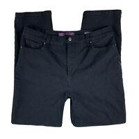 GLORIA VANDERBILT Women 14 Pants Jeans Denim Amanda Straight Leg Pockets Black