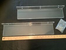 "2 CLEAR ACRYLIC CUSTOM MADE FLOATING SHELF WALL MOUNTED  18"" x 4"""