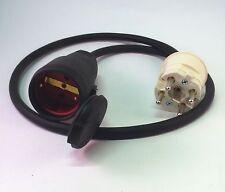 Adapter 16A PERILEX Stecker / 16A Schuko Kupplung Adapter Leitung mit Perilex