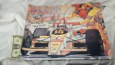 Autographed Signed Jim Crawford F-1 IndyCar Racing Print HECTOR BERGANDI Limited