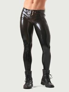 Fitted Latex Jeans with Braces