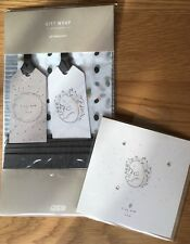 Mamas and Papas Baby Shower Gift Wrap & Card Set. Tiny And New. Squirrel Design