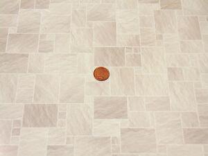 1:12 Scale Light Stone Floor Tile Card DIY A3 Size 434A Tumdee Dolls House