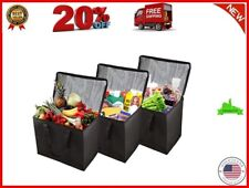 3 Pack XL Insulated Reusable Grocery Shopping Bags Extra Large Water Surface