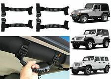 4pc Black Roll Bar Grab Handles For 1995-2017 Jeep Wrangler New Free Shipping