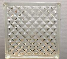 Reclaimed Architectural Glass Building Block - Beautiful Diamond Pattern!