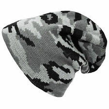 Acrylic Camouflage Beanie Hats for Men