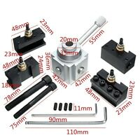 7Pcs Mini Quick Change Tool Post Holder Aluminum Alloy Kit For Table/Hobby Lathe