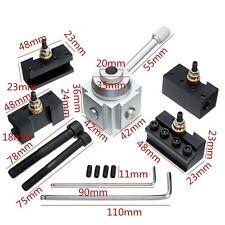 7Pcs Mini Quick Change Tool Post Holder Aluminum Alloy Kit For Table/Hobby Lathe