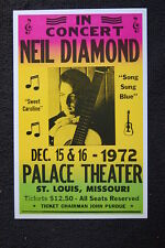 Neil Diamond 1972 Poster Palace Theater ST. Louis Misso