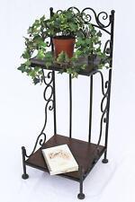 stehregal Estante de pie metal madera 80cm Para Libros Aparador baño Marrón