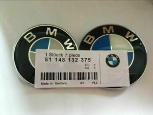 74MM + 82MM Badge Emblem Bonnet Boot For 1 2 3 4 5 6 7 X1 X3 X4 X5 Z3 Z4