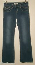 Womens 8 x 32 HYDRAULIC Low Rise Boot Cut Stretch Jeans Embroidered Flap Pockets