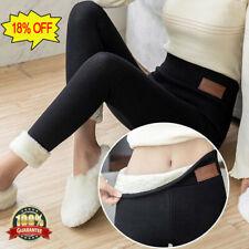 Mujer Invierno Gruesas Abrigadas Soft Fleece Forrado Térmico elásticos Leggings Pantalones S-5XL