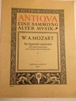 """W. A. Mozart : """" Sei Quartetti capricciosi """" - Quartett 1"""