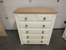 HAMPSHIRE PAINTED 2 OVER 4 DRAWER CHEST/ SOLID PINE/ SOLID OAK/ BESPOKE