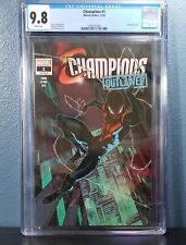 CHAMPIONS #1 Walmart Exclusive Variant CGC 9.8 Outlawed Miles Morales 2020 🔥🔥