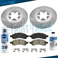 Front Drilled Brake Rotors + Ceramic Pad for 2009-2012 Chevy Colorado GMC Canyon