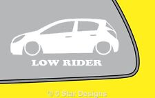 2x LOW RIDE vauxhallopel Corsa D 5-DOOR cdti gsi DTi outline sticker LR106