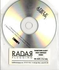 Adele 2trk PROMO CD Hometown Glory HIGH CONTRAST REMIXES