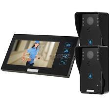7'' Video Door Phone Doorbell Intercom Kit 2 Camera 1 Monitor Night Vision US
