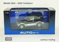 AUTOart art 1999 Mitsubishi Pajero SWB 2 DRS SUV RHD Black Silver 1/43 NEW MINT!
