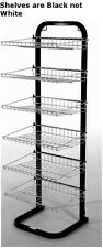 "New Retail Black with Black Fixed Six Shelves Display Rack 51""H x15 3/8""W x14""D"