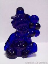 Mosser Glass All The World Loves a Clown 1981 Lyle Blue Figurine Balloons Vtg