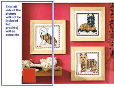 TARTAN TERRIERS  CROSS STITCH  PATTERN ONLY -  HH  C