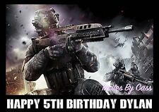 CALL OF DUTY EDIBLE IMAGE CAKE TOPPER BIRTHDAY PARTY KIDS