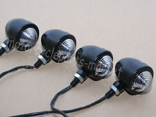 4X Black Bulb Motorcycle Turn Signals Light Indicators For Harley Cafe Racer New