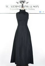 Womens Black Gothic Wedding Party Sleeveless Victorian Long Maxi Evening Dress 6
