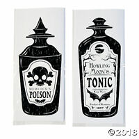 PACK 12 HALLOWEEN CELLOPHANE BAGS PARTY TABLE DECORATION FAVOR GIFT LOLLY CELLO