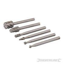 Silverline 457038 Outil Rotatif HSS Burr Set 6pce 2 3 5 7 mm Dia