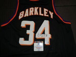 Charles Barkley Phoenix Suns Autographed Custom Basketball Jersey GA coa