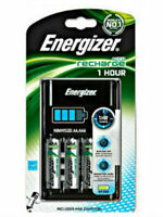 Energizer 1 Hour Charger AA and AAA + 4x AA 2300mAh NiMH Rechargeable Batteries