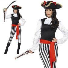 Adult Pirate Lady Costume Caribbean Buccaneer Womens Fancy Dress UK 8-18