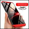 COVER Per Xiaomi Mi A2 Lite 360° CUSTODIA Fronte Retro ORIGINALE Vetro Temperato
