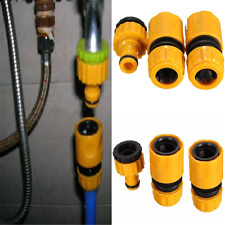 """3PC 1/2""""3/4"""" Garden Hose Water Pipe Quick Connector Tube Fitting Tap Adapter Set"""