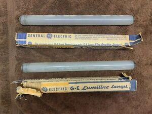 """2x Vintage GE Lumiline Lamp Bulb 11 5/8"""""""