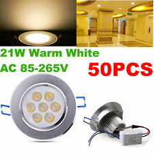50x 21w LED Down Light Recessed Ceiling Spot Lamp Panel Bulb Warm White Driver
