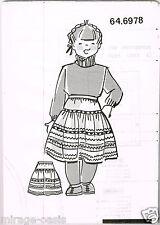 Jupe milleraies. T6 à 10ans.Modes&Travaux Février 1990,Vintage Neuf non découpé.