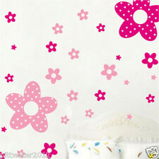 Pink & Red Flowers Wall Sticker Art Decal Removable Home Girls Kids Room Nursery