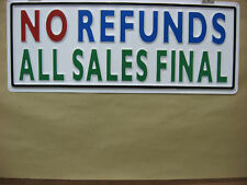 NO REFUNDS ALL SALES FINAL Service Sign 3D Embossed Plastic 8x22, Hi Visibility