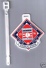 1996 HALL OF FAME INDUCTION GOLF BAG TAG BUNNING WEAVER