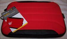 "Targus ZAMBA Netbook Sleeve Neoprene 10.2"" RED/BLACK ~ NWT $30"