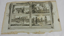 1784 Antique Print/CRUEL WAYS OF KILLING/TORTURING MARTYRS/Book of Martyrs