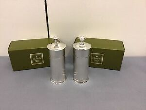 """Pair CHRISTOFLE Silver Plate 5"""" Pepper Grinders in Box"""