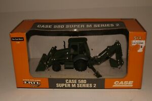 Ertl Mighty Movers, Case Tractor Loader Military Model 580 Super M, 1/50th Scale
