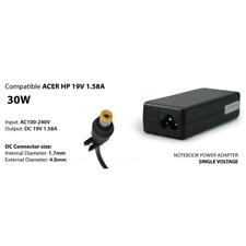 ALIMENTATORE COMPATIBILE PER NOTEBOOK ACER HP 30W 19V 1.58A PLUG 1.7/4.8 MM HANT